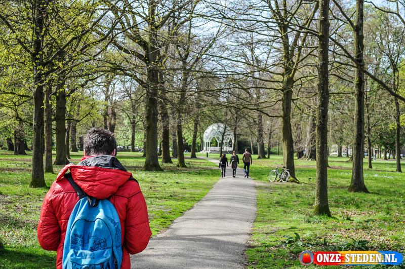 het Frederikspark in Haarlem