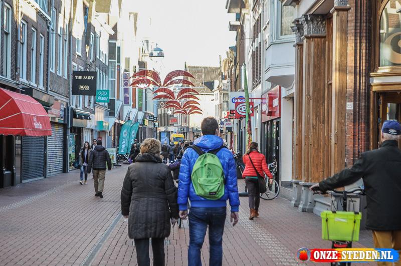 De Haarlemmerstraat in Leiden