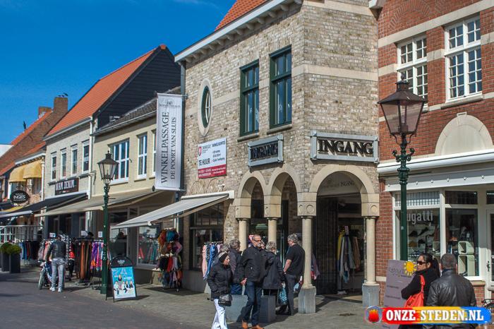 De Nieuwstraat in Sluis