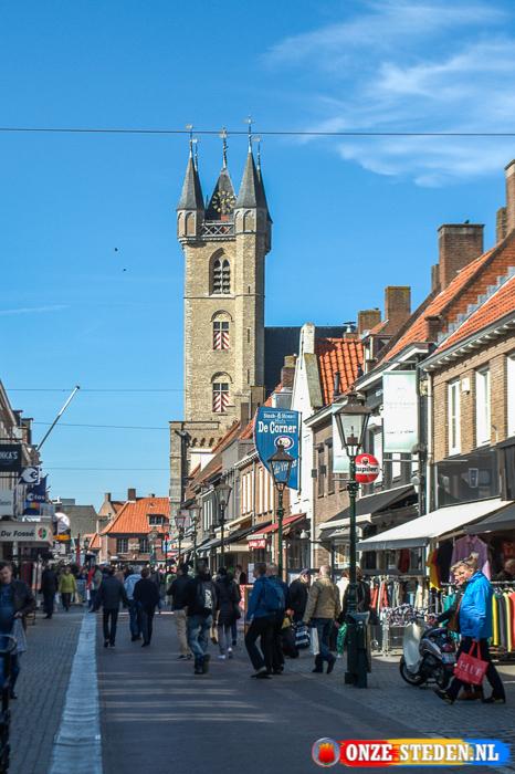 De Kapellestraat in Sluis