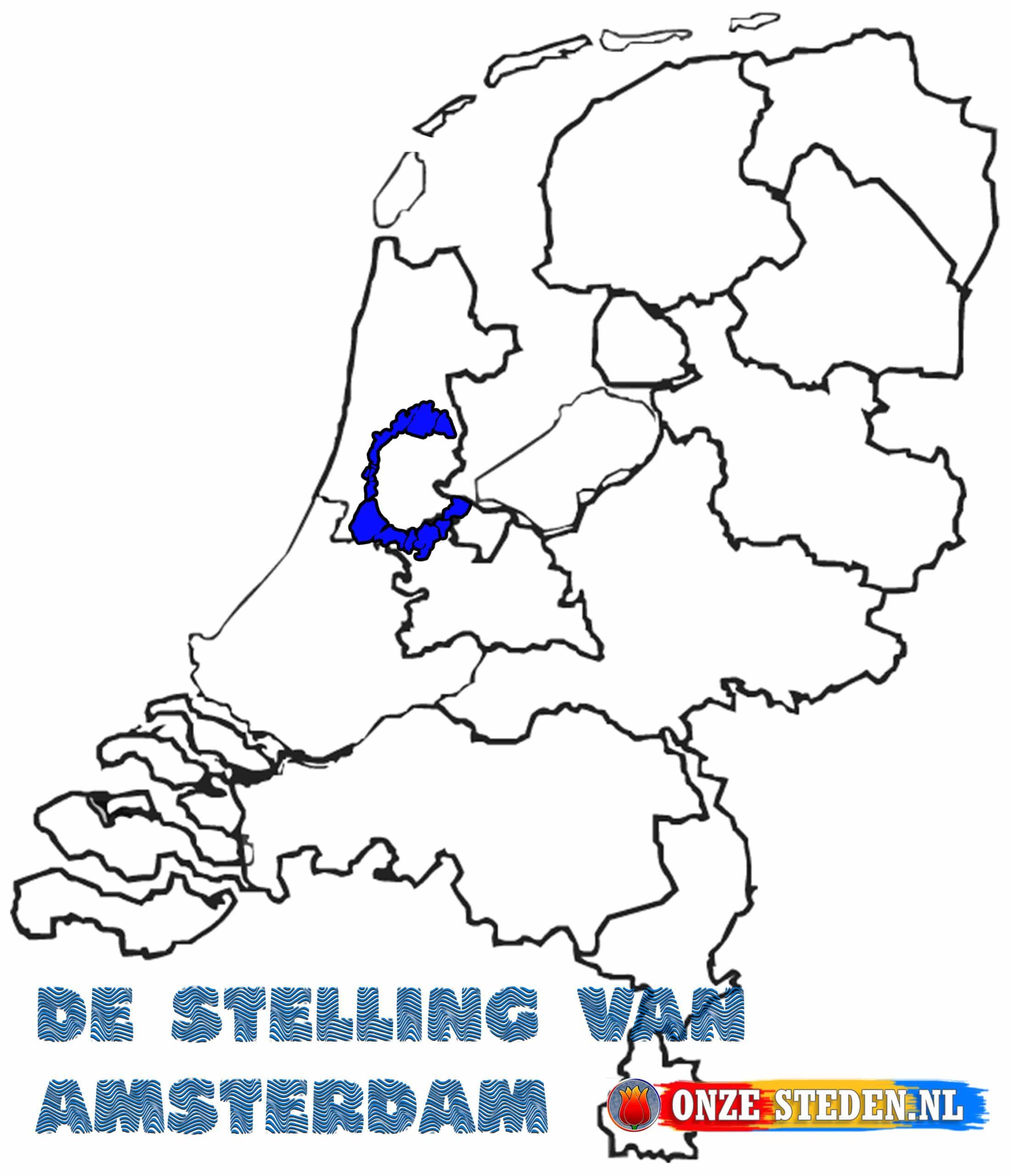 De stelling van Amsterdam op de kaart