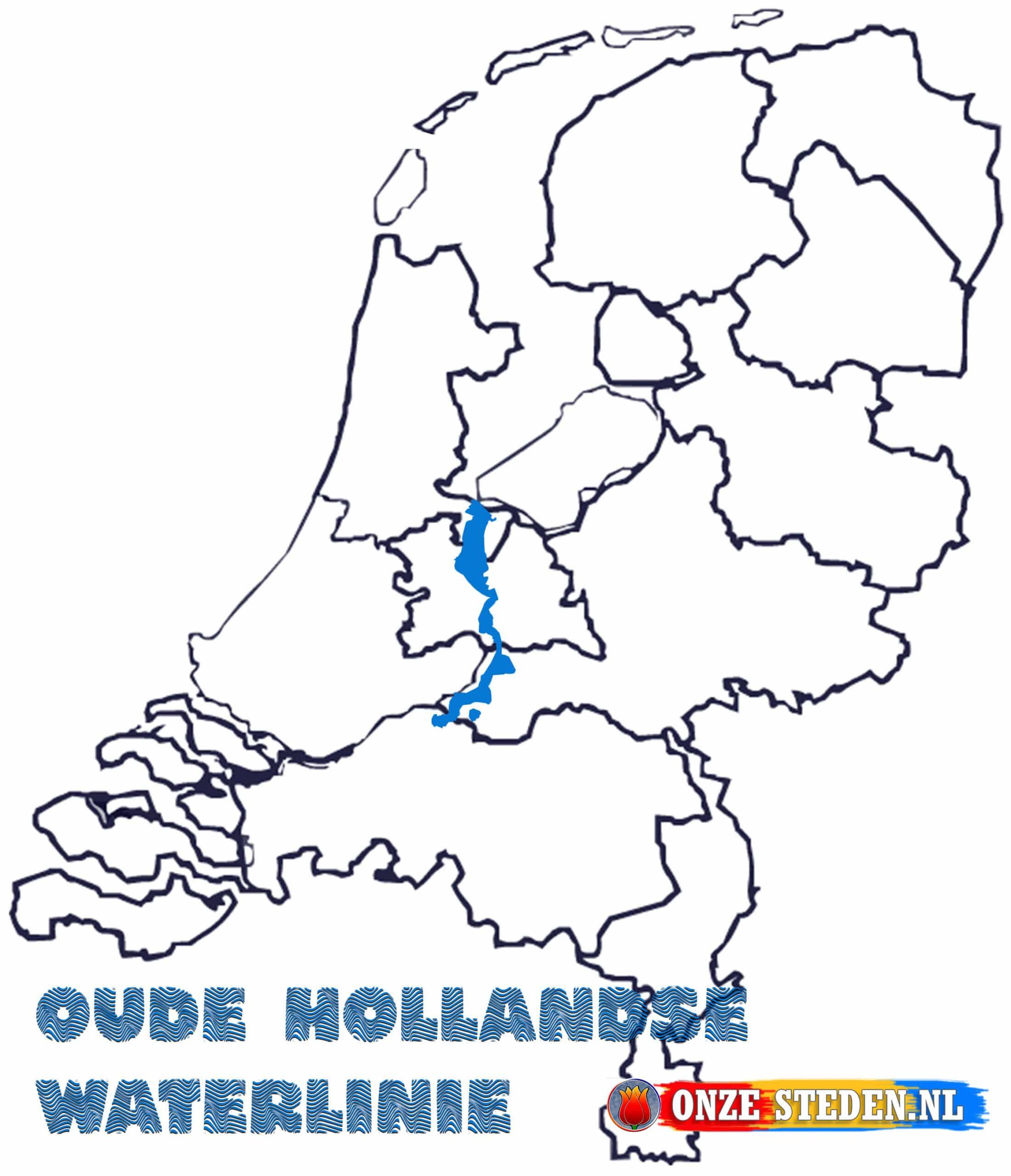 Oude Hollandse Waterlinie op de kaart
